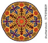 abstract ethnic mandala.... | Shutterstock .eps vector #579398809