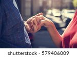mature people romantic holding... | Shutterstock . vector #579406009