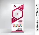 promo banner roll up design ... | Shutterstock .eps vector #579414151