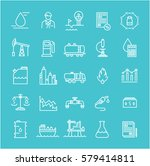 set line icons with open path... | Shutterstock . vector #579414811