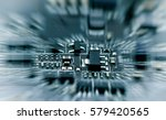 close up electronic circuit... | Shutterstock . vector #579420565