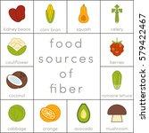 food sources of fiber  vector... | Shutterstock .eps vector #579422467