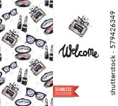 fashionable greeting card for... | Shutterstock .eps vector #579426349
