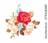 bouquet with white and red...   Shutterstock .eps vector #579428389
