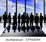 illustration of business people ... | Shutterstock . vector #57943594