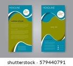 vector flyer and leaflet design.... | Shutterstock .eps vector #579440791