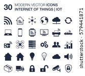 set of 30 quality icons about... | Shutterstock .eps vector #579441871