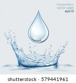 transparent vector water splash ... | Shutterstock .eps vector #579441961