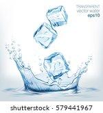 transparent vector water splash ... | Shutterstock .eps vector #579441967