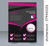 abstract flyer design... | Shutterstock .eps vector #579443101