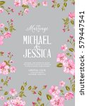 wedding invitation card... | Shutterstock .eps vector #579447541