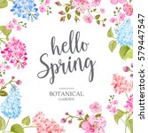 spring time concept of card... | Shutterstock .eps vector #579447547