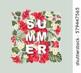 summer sale concept. elegant...   Shutterstock .eps vector #579447565