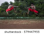 """pencak silat"" indonesian...   Shutterstock . vector #579447955"