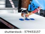 3d printer mechanism working...   Shutterstock . vector #579453157