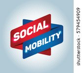 social mobility arrow tag sign. | Shutterstock .eps vector #579454909
