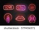 vector collection of neon... | Shutterstock .eps vector #579456571