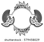 black and white silhouette... | Shutterstock .eps vector #579458029