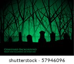 eerie background of tombstones... | Shutterstock .eps vector #57946096