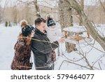 Family Walking On Winter City...