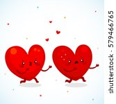 catch up of two loving hearts ... | Shutterstock .eps vector #579466765