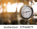 pressure gauge in oil and gas... | Shutterstock . vector #579468079