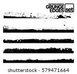set of grunge and ink stroke... | Shutterstock .eps vector #579471664