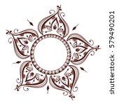 henna tattoo mehndi flower... | Shutterstock .eps vector #579490201