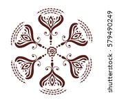 henna tattoo mehndi flower... | Shutterstock .eps vector #579490249
