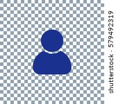 vector man profile icon on... | Shutterstock .eps vector #579492319