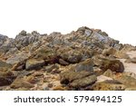 big rock isolated on white... | Shutterstock . vector #579494125