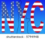 outline of state of liberty... | Shutterstock .eps vector #5794948
