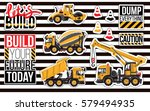 sticker and patch set of... | Shutterstock .eps vector #579494935