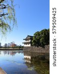 view of the imperial palace ... | Shutterstock . vector #579509425