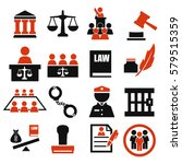 attorney  court  law icon set | Shutterstock .eps vector #579515359