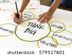ideas brainstorming about think ... | Shutterstock . vector #579517801
