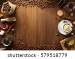Cup Of Coffee  On Wooden...