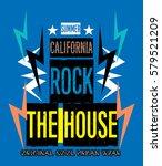 california summer rock the... | Shutterstock .eps vector #579521209