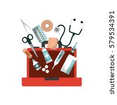 first aid design | Shutterstock .eps vector #579534391