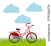 bicycle icon image | Shutterstock .eps vector #579536374