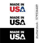 vector made in usa icon | Shutterstock .eps vector #579536689