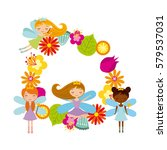 fairy girl icon | Shutterstock .eps vector #579537031