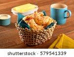 cheese bread   brazilian snack | Shutterstock . vector #579541339