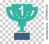 first prize cup icon. vector... | Shutterstock .eps vector #579545119