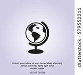 globe icon vector illustration. | Shutterstock .eps vector #579552211
