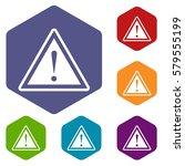 hazard warning attention sign... | Shutterstock . vector #579555199