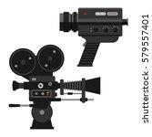 video camera vector... | Shutterstock .eps vector #579557401
