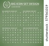 big icon set clean vector   Shutterstock .eps vector #579561019