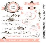 set of calligraphic wedding... | Shutterstock .eps vector #579564799
