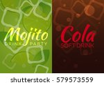 ice mojito and cola poster.... | Shutterstock .eps vector #579573559